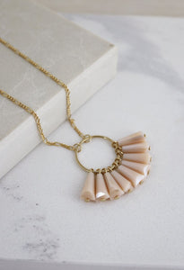 Lover's Tempo Confetti | Peach Rose | Necklaces | $60