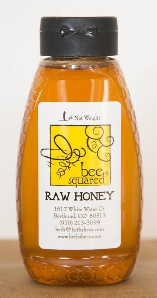 Bee Squared Honey 16 Oz Squeeze Bottle Local (Alfalfa/Clover)