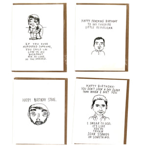 Local Artist Funny Birthday Card Pack