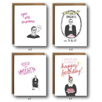 The Card Bureau Ruth Bader Ginsburg Badass Box Set | Cards/Stationary | $23