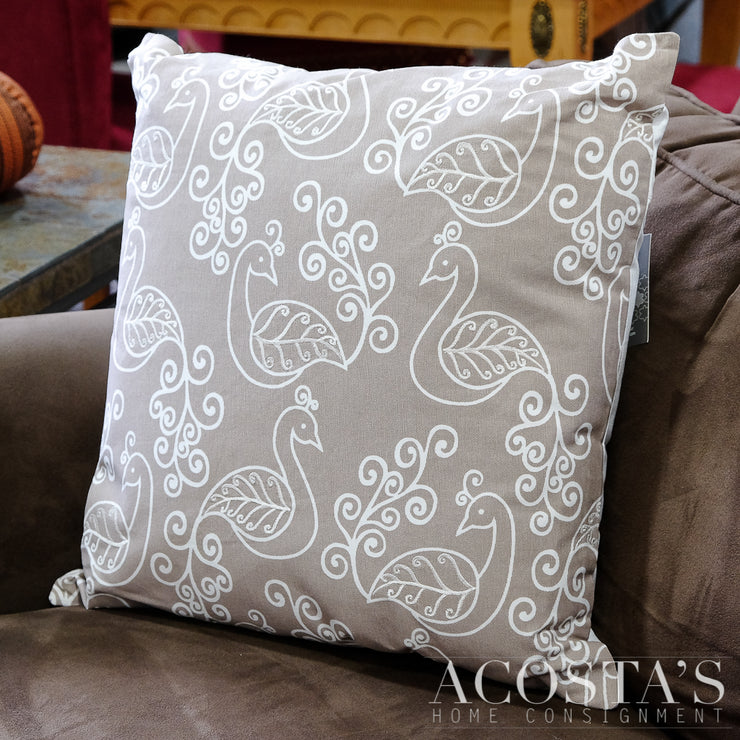 (NEW) Scroll Peacock Pillow - Acosta's Home
