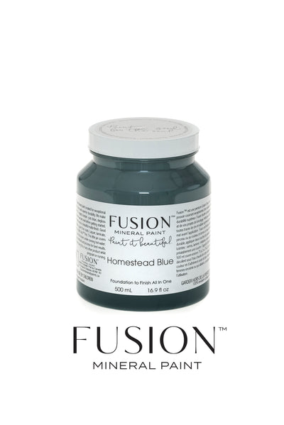 Fusion Mineral Paint-HOMESTEAD BLUE (Pint) - Acosta's Home