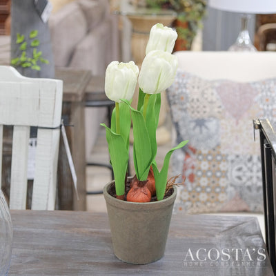 Real Touch Potted Tulips - Acosta's Home