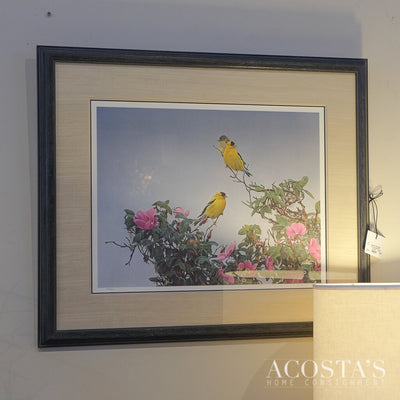 Goldfinch on the Roses-by Terry Issac Signed