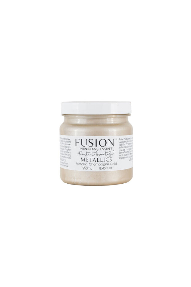 Fusion Mineral Paint - METALLIC Champagne Gold (Half Pint) 8.45oz