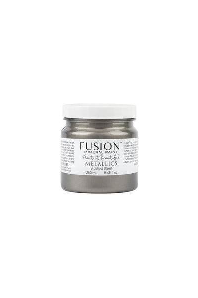 Fusion Mineral Paint-METALLIC BRUSHED STEEL (Half Pint) - Acosta's Home