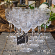 12 Crystal Wine Glasses - Harcourt Platinum
