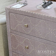 (BRAND NEW) 3 Drawer Embellished Dresser