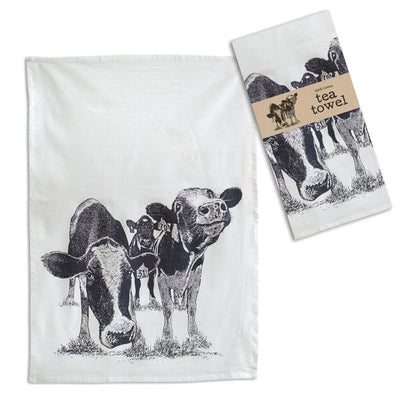 """Happy Cows"" Tea Towel"