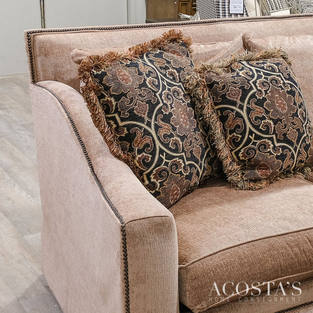 Orig. Price $3900 - High Back Sofa with 4 Accent Pillows