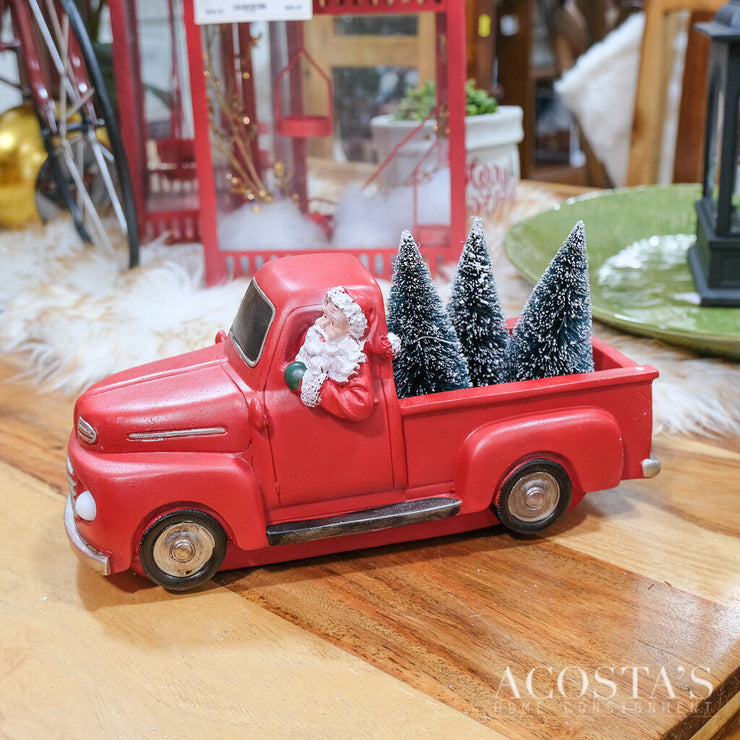 Light Up Santa Pick Up Truck
