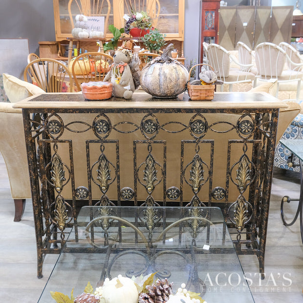 Iron Base Sofa Table