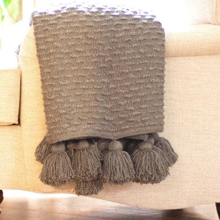 Boucle Woven Throw Blanket - Acosta's Home