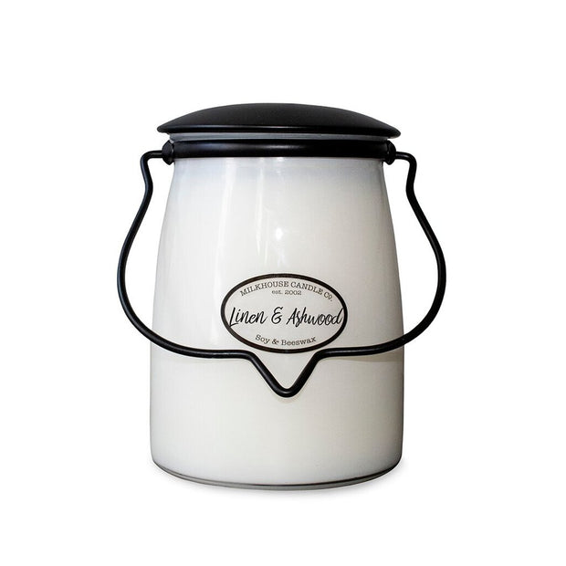 Milkhouse Jar Candle - Linen and Ashwood - Acosta's Home