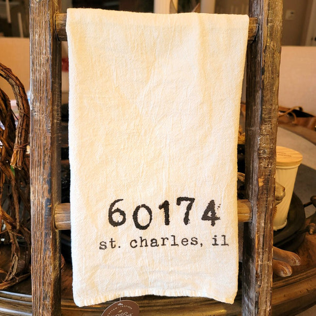 St. Charles, IL 60174 Cotton Tea Towel - Acosta's Home