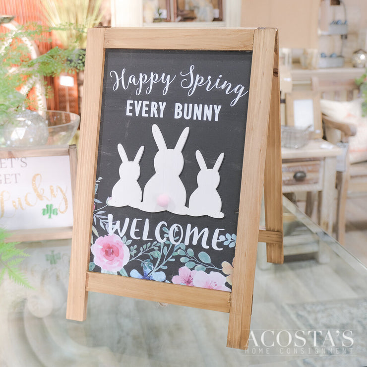 Every Bunny Welcome A-Frame Sign - Acosta's Home