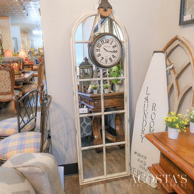 Orig. Price $500 - Iron Window Mirror - Acosta's Home
