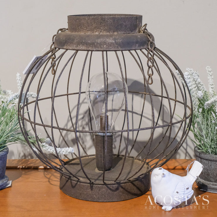 Industrial Cage Light - Acosta's Home