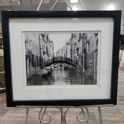 """Bridge Over Canal"" Framed Picture"