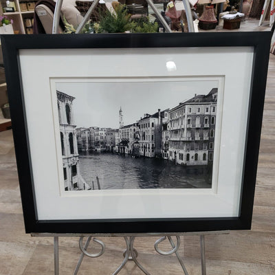 """Canal Flowing Through Buildings"" Framed Picture"