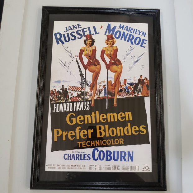 """Gentlemen Prefer Blondes"" Framed Movie Poster"