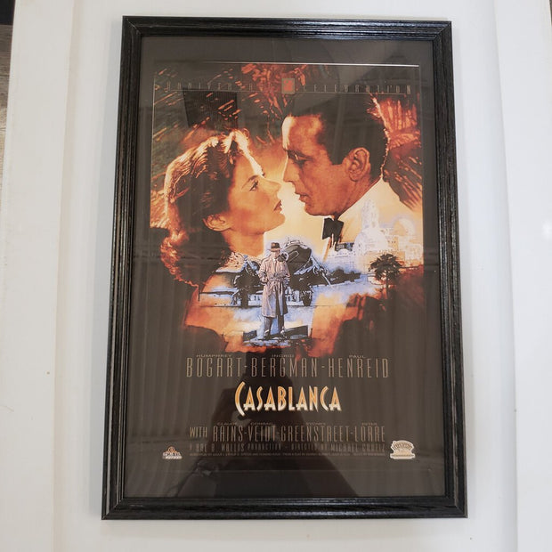 """Casablanca"" Framed Movie Poster"