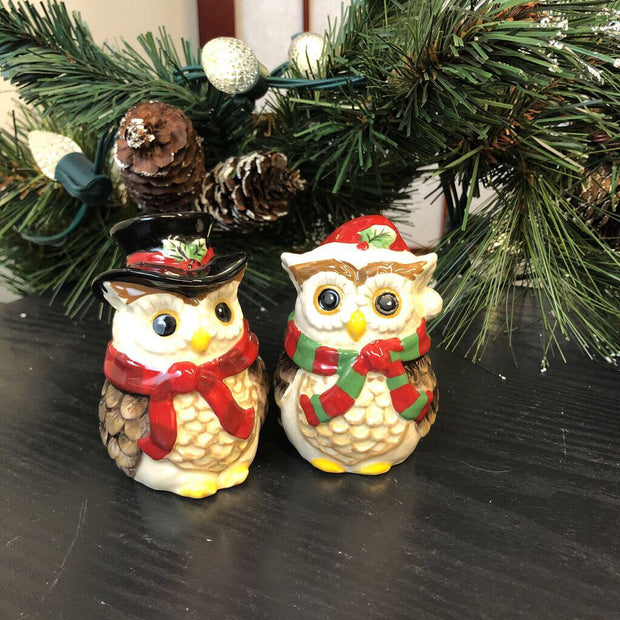 Winter Owl Salt and Pepper Shaker
