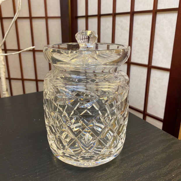 Crystal Lidded Biscuit Jar