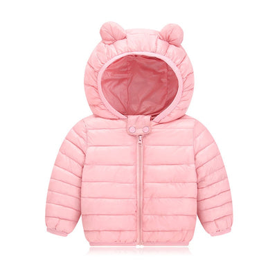 Down Cotton Hooded Baby Jackets - Bold & Fierce