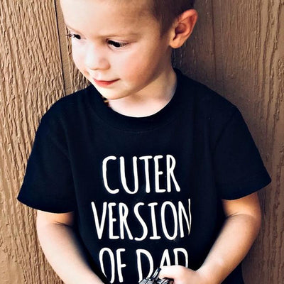 Cuter Version of Dad Letters Printed T-shirt - Bold & Fierce