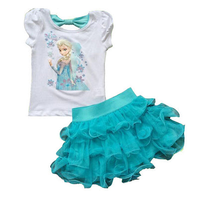Princess Elsa Dress + Skirt  2 Pcs Set - Bold & Fierce