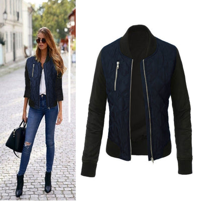 Zipper Closure V-Neck Jackets - Bold & Fierce
