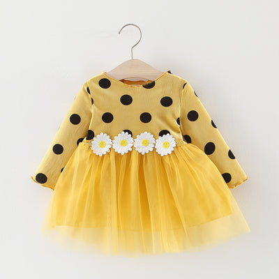 Polka Dot Long Sleeve Infant Dress - Bold & Fierce