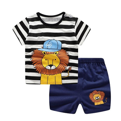 Lion print baby clothing sets - Bold & Fierce