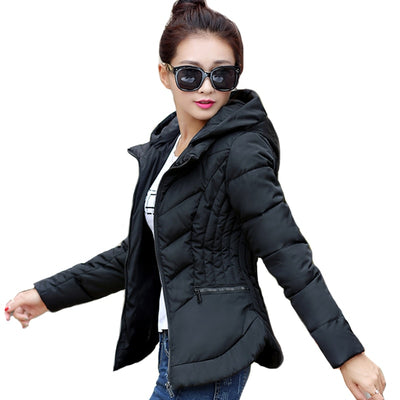 Cotton Padded Slim Hooded Jackets - Bold & Fierce