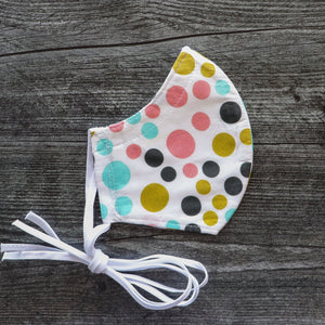 Retro Pastel Polka Dots Face Mask