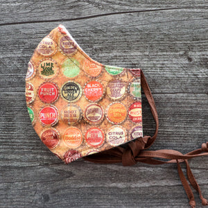 Tim Holtz Bottle Tops Face Mask