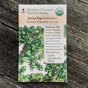 Seven Top Turnip Greens