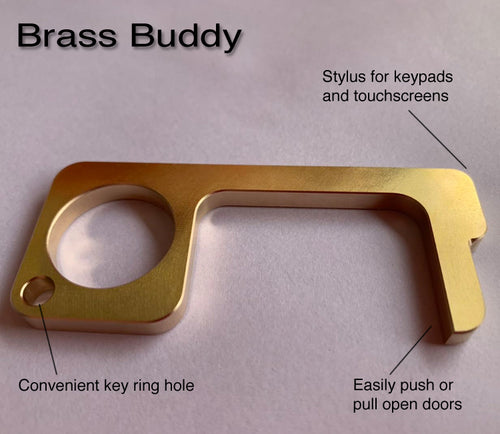 Brass Buddy - Antimicrobial Door Opener / Stylus (Pack of 2) - Mask2.Me