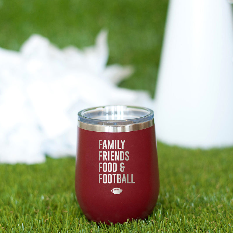 Family, Friends, Food & Football Tumbler
