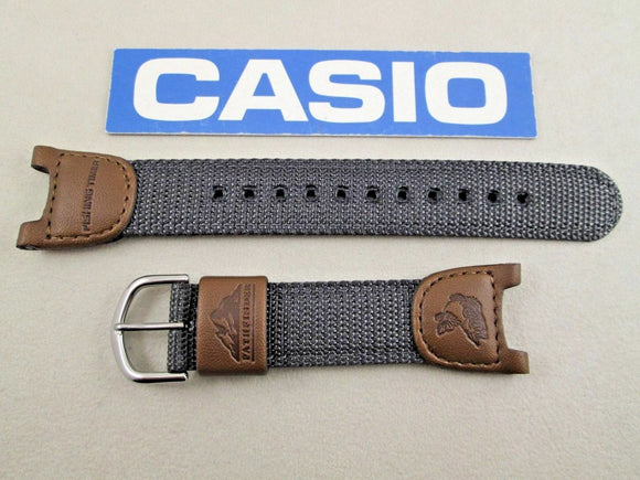 Genuine Casio Sea-Pathfinder PAS-400B Nylon/Leather 24/14MM Watchband