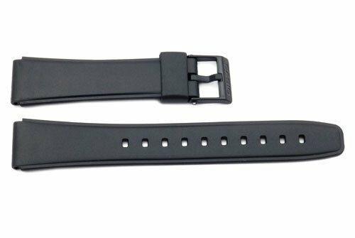 Casio 10222860 Black Resin 20/17mm Watch Strap 17mm