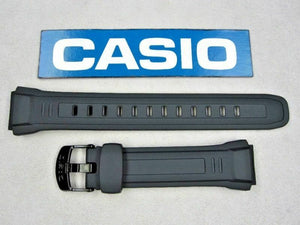 Casio 10243173 WV-58A WV-58E WV-58J WV-58U black resin rubber watch band 18mm