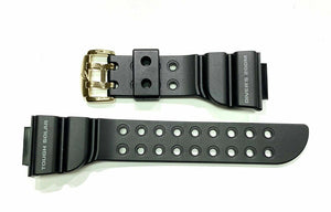 Casio 10271341 Watch Band f G-Shock Frogman GW-225A-1 Black Strap w/ Gold Buckle