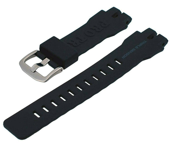 CASIO 10471929 Pathfinder Protrek PRW6000 Black Rubber Watch Band
