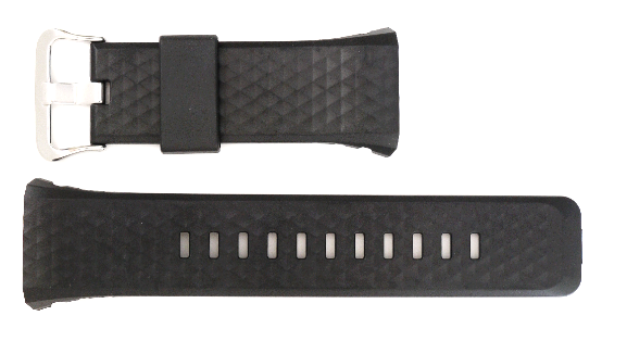 Casio black rubber watch band WSD-F20