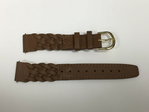 Timex 23tx00376R Woven Leather Brown Ladies Watch Band 18mm