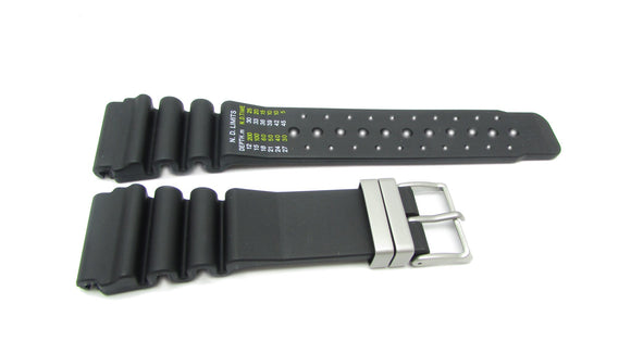 Citizen 59-L7322 Black Rubber Watch Band -24mm