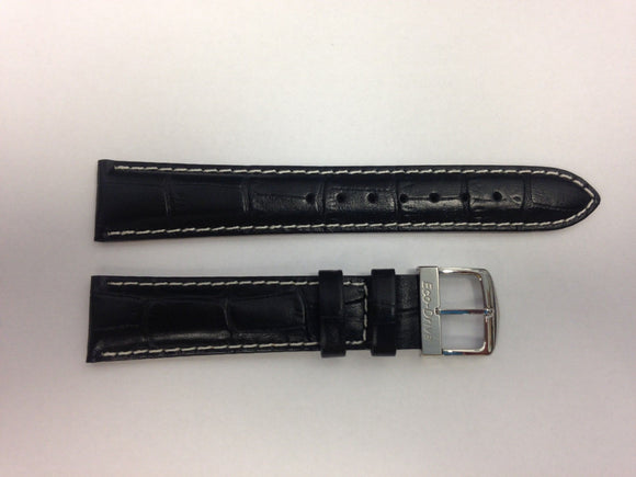 Citizen 59-S50281-59-S50266-Black-white Leather Watch band 18mm