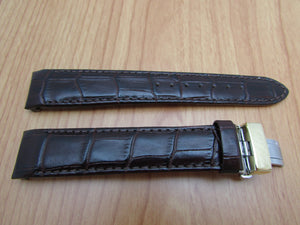 Citizen 59-S50365 Eco-Drive Dark Brown Alligator Grain Leather Watch Band 20mm